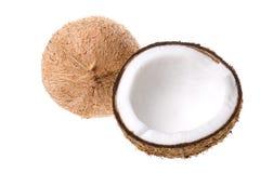Noci di cocco isolate Fotografia Stock