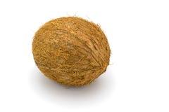 Noci di cocco su un bianco Fotografia Stock Libera da Diritti