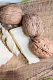 Noci e formaggio Fotografia Stock