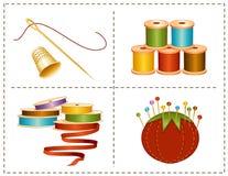 nociones de costura de +EPS, colores de tierra Fotografía de archivo