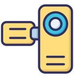 Nocken, Kamerarecorder lokalisierte Vektor-Ikone, die leicht geändert werden oder redigiert werden kann vektor abbildung