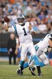 Nocken Newton Carolina Panthers stockbild