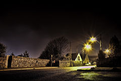 Nocna ulica Obrazy Royalty Free