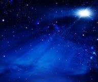 Nocne niebo, astronautyczny tło Zdjęcia Stock