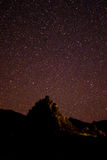 Nocne Niebo chyłu Duży park narodowy Fotografia Royalty Free