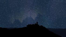 Nocne niebo czasu upływ 4k UHD royalty ilustracja