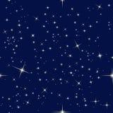 Nocne niebo i gwiazdy Zdjęcia Stock
