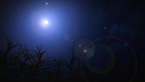 Nocne niebo na Halloween. Obrazy Royalty Free