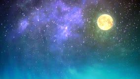 Nocne niebo pętla ilustracji