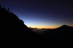 Nocne niebo sembalun Zdjęcie Royalty Free