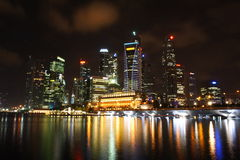 Nocne niebo Singapur Fotografia Stock