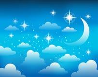 Nocne niebo tematu wizerunek 1 royalty ilustracja