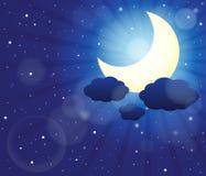 Nocne niebo tematu wizerunek 3 ilustracji