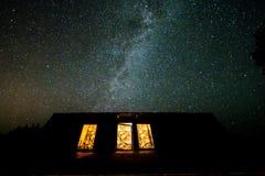 Nocne niebo w Polska obraz royalty free