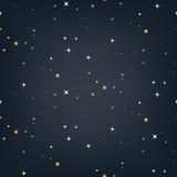 Nocne niebo wektoru bezszwowy wzór Fotografia Stock