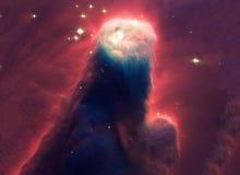 Nocne niebo z chmur gwiazd mgławicy tłem Elementy meblujący NASA wizerunek Fotografia Royalty Free