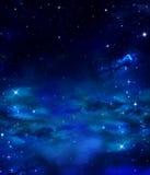 Nocne niebo z gwiazdami Obrazy Royalty Free