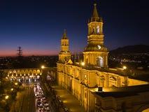 nocne plaza de armas Zdjęcia Royalty Free