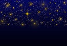Nocnego nieba gwiazdowy tło Zdjęcia Stock