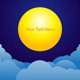 Nocnego nieba tło z księżyc teksta przestrzenią Zdjęcia Royalty Free