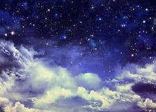 Nocnego nieba tło Zdjęcia Stock