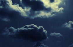 nocny chmura abstrakcjonistyczny krajobraz Zdjęcie Stock