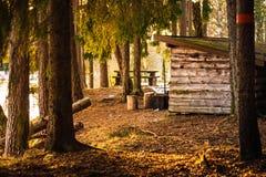 Nocny drewniany schronienie Zdjęcia Stock