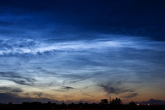 Noctilucent clouds Royalty Free Stock Photos