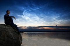 Noctilucent Clouds Stock Photography
