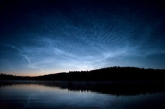 Noctilucent clouds at night Stock Image