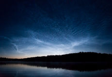 Noctilucent clouds at night Royalty Free Stock Photo