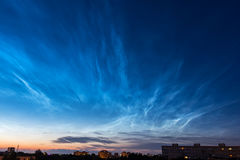Noctilucent clouds Stock Image