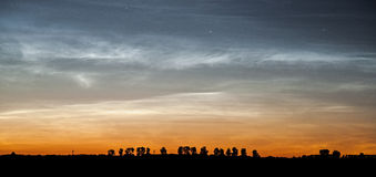 Noctilucent clouds Royalty Free Stock Photo