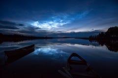 Noctilucent Wolken lizenzfreie stockbilder