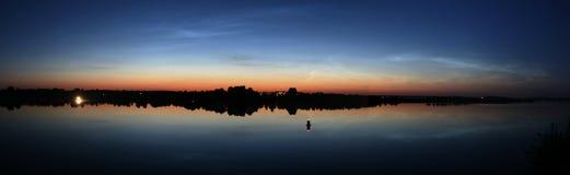 Noctilucent Wolken Stockbild