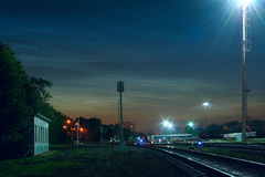 Noctilucent Wolken Lizenzfreies Stockfoto
