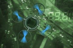 Noctovision remarquant Dron Images libres de droits