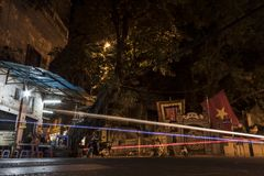 Nocturna en Hanoi stock photography