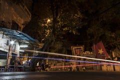 Nocturna en Hanoi fotografia stock