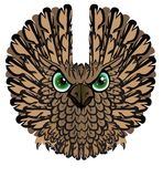 Nocturnal birds of prey. Owl. Vector illustration Royalty Free Stock Photography