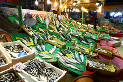 Nocturnal fish market in Istanbul, Turkey Stock Photos
