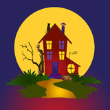 Nocturnal house Stock Photos