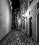 Nocturnal view on Old Riga, Latvia, Europe Royalty Free Stock Photos
