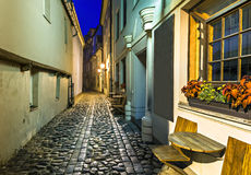 Nocturnal view on Old Riga, Latvia, Europe Royalty Free Stock Images