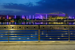 Nocturne. The nocturne of Fen River in Taiyuan, Shanxi, China Royalty Free Stock Image
