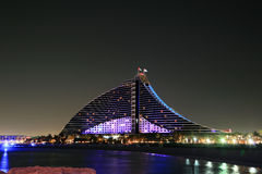 Nocturne of Beach Hotel Stock Image