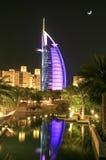 Nocturne of Burj Arab. Hotel Dubai Stock Image