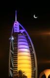 Nocturne of Burj Arab Hotel. Burj Arab Hotel building Night-view Royalty Free Stock Image