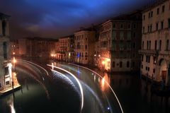 Nocturne in the Grand Canal Stock Images