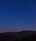 Nocturne from the ski slopes of La Molina.  Royalty Free Stock Images